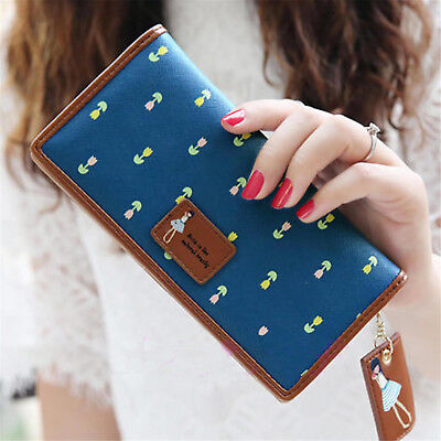 Women Leather Wallet Lady Long Card Holder Handbag Bag Clutch Purse US Warehouse