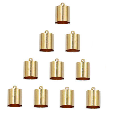 10Pcs End Cord Crimp Bead Cap Findings Light Gold for Jewelry Making Craft