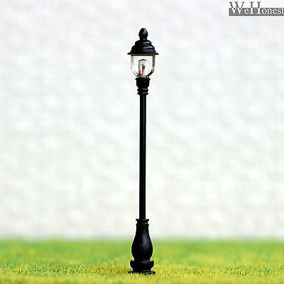 4 x O scale Model Railroad train Lamp posts Led street light Antique Lamps AD80S