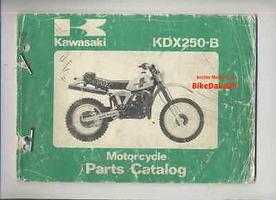 Kawasaki KDX250-B2 (1982) Illustrated Parts Catalogue KDX 250 B,Enduro,Uni-Trak