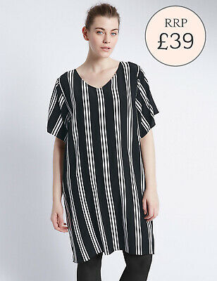 Ex M&S PLUS SIZE Striped Tunic BNWOT, SIZE 18 ONLY