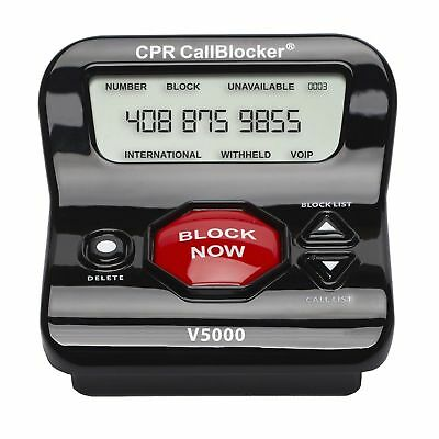 NEW CPR V5000 Call Blocker - Pre Programmed 5000 Robo Numbers + 1500 More Number