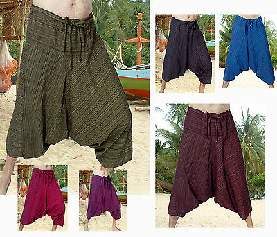 Quality Harem Shorts Pants Fisherman Baggy Yoga Cord Tie Unisex Cotton Handmade