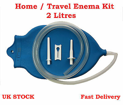 ANAL & VAGINAL Health DOUCHE KIT COLONIC IRRIGATION, HOME TRAVEL ENEMA, 2 Litres