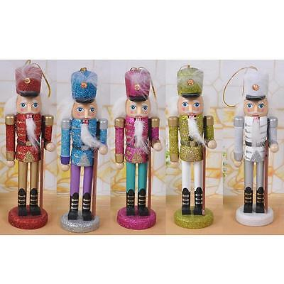 5 Handpainted Wooden Nutcracker Toy Solider Christmas Decoration Ornament 6""