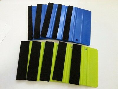 "x10 4"" & 5"" Felt Edge Squeegee Vinyl Decal 3M Wrap Window Tint Application Tool"