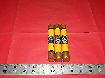 Lot of 3 Bussmann Low-Peak LPS-RK-4SP Fuses Time Delay 4Amp 600Volt LPSRK4SP