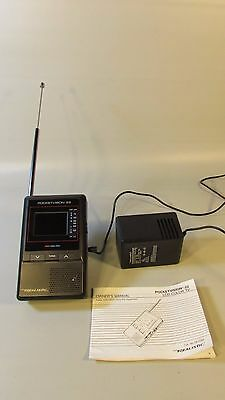 Realistic Pocketvision-22 Portable Mini Color TV -w/adapter + instructions WORKS