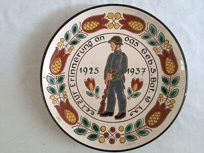 Pre-Ww2 Swiss Commemorative Porcelain Plate In Memory Of Service.orig.