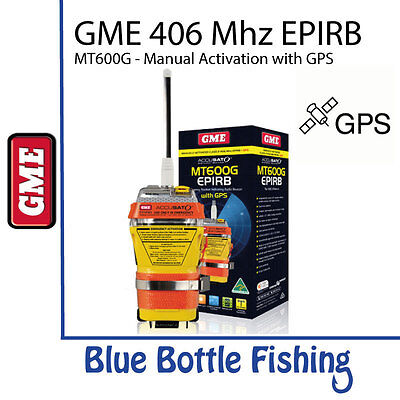 GME EPIRB 406Mhz Manually Activated with GPS - MT600G
