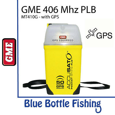NEW GME PLB - 406 MHZ PLB with GPS - MT410G from Blue Bottle Fishing