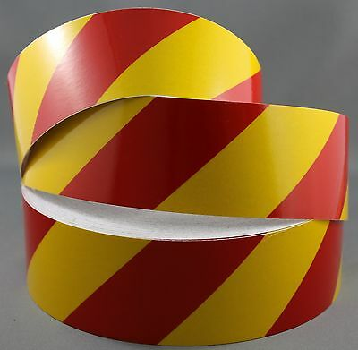 3M Yellow/Red Class 2 (3200 Series) Reflective Tape 50mm x 45.7m RIGHT