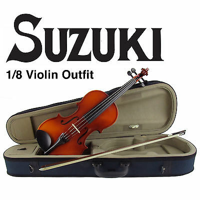 Suzuki FS-10 Nagoya 1/8 Eighth Size Violin Outfit Package! With Pro Setup!