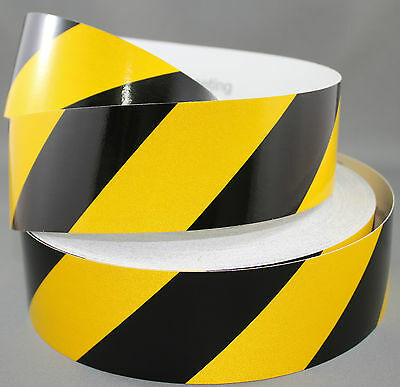 3M Yellow/Black Class 2 (3200 Series) Reflective Tape 50mm x 45.7m RIGHT