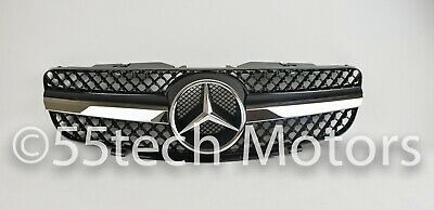 Mercedes Benz R230 03~06 SL500 SL600 Grille Grill AMG 1 fin Style NEW GGG 55TECH