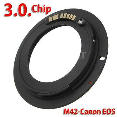 Mount Adapter For M42 Lens to Canon EOS EF 7D 60D 550D 600D 1100D AF Confirm