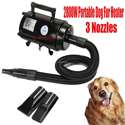 Pet Dog Hair Grooming For Blaster Dryer Heater Two Speeds Drying 2800W UK Plug