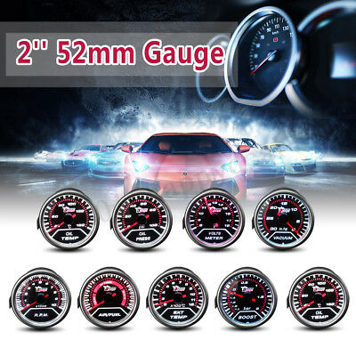 "2"" 52Mm Led Car Boost/vacuum/water / Oil Temp/pressure/volt/fuel/egt/tacho Gauge"