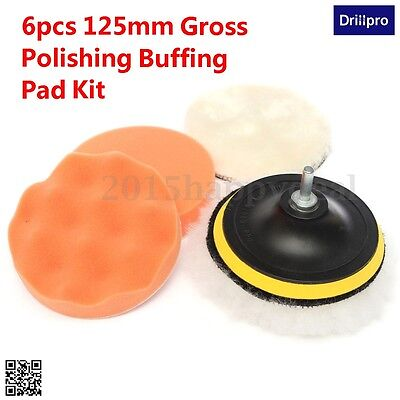 125mm Gross Polishing Buffing Pad Kit for Car Polishing with Drill Adapter - M10