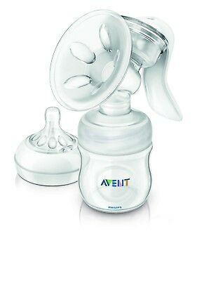 Philips AVENT SCF330/20 Comfort Manual Breast Pump WITH 1 0m+ Newborn Teat NEW