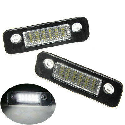 2pc LED REAR NUMBER LICENSE PLATE LIGHT FOR FORD MONDEO FIESTA FUSION ERROR FREE