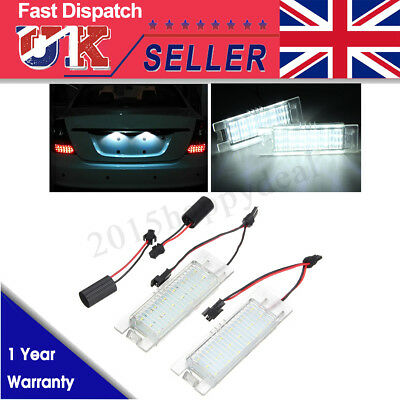 No Error LED License Number Plate Light for Vauxhall Opel Astra H Corsa D Zafira