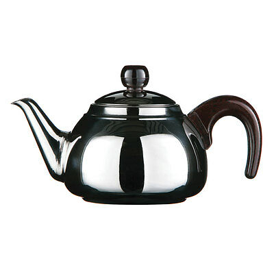 Stainless Steel Silver Teapot And Infuser 900ml Easy Pour Comfortable Handle