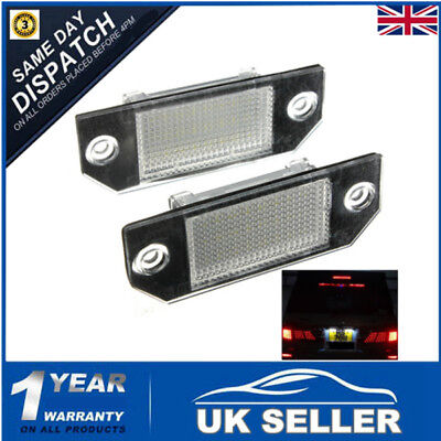 Led Number License Plate Lights Lamp White For Ford Focus C-Max Mk2 Error Free