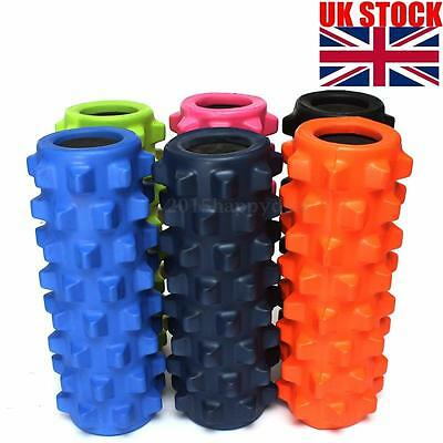 Yoga Foam Roller Exercise Trigger Point Gym Textured Physio Massage EVA Grid New