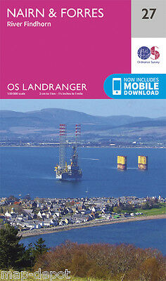 NAIRN & FORRES LANDRANGER MAP 27 - Ordnance Survey - OS - NEW 2016 + DOWNLOAD