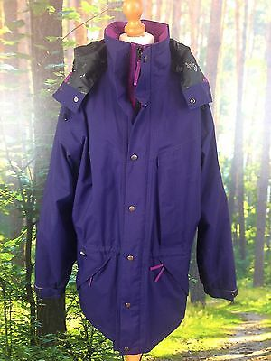 The North Face Uk Ladies L Vintage Stowaway Purple Iii Goretex Jacket