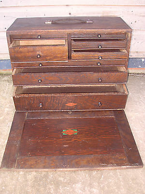 Neslein 8 Drawer Engineers Tool Chest / Cabinet / Box - Needs Attention.