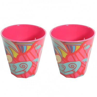2er Set Becher Melamin Tassen AMY pink bunt Kinderbecher - Overbeck and Friends