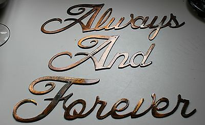 Always and Forever Words Metal Wall Art Accents