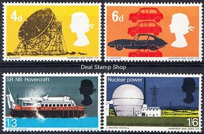 GB 1966 British Technology SG701p-4p Phosphor Complete Set Unmounted Mint