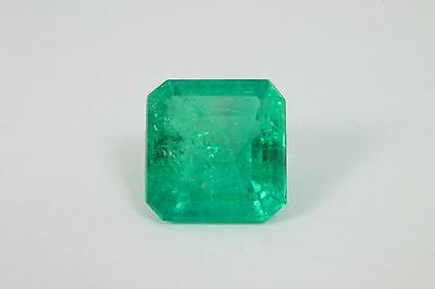 Vibrant 3.25Cts Grade AA Natural Colombian Emerald Cut Loose Gemstone!