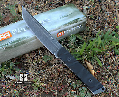 "10"" Heavy Duty Tanto Point Blade Tactical Fighting Combat Knife with Sheath NIB"