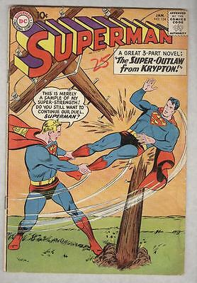 Superman #134 January 1960 G/VG
