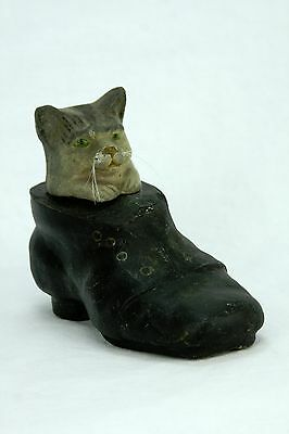 Antique German Cat In Shoe Candy Container ca1910