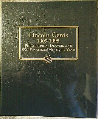 Whitman Classic Lincoln Cents Album 1909-1995, New