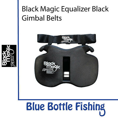 NEW Black Magic Equalizer Black Gimbal Belts - XL Wide from Blue Bottle Fishing