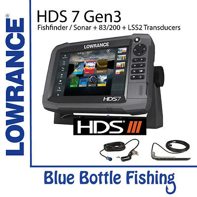 Lowrance HDS 7 Gen 3 Touch + 83/200 & LSS2 Transducers