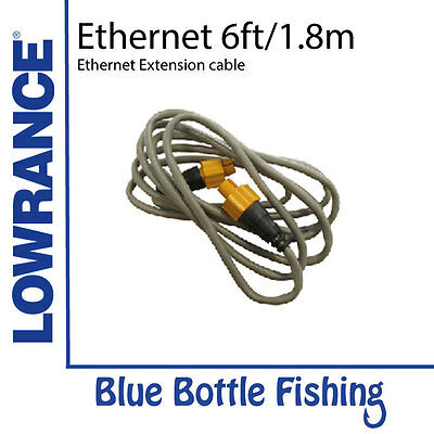 Lowrance Ethernet cable yellow 5 Pin 1.8 m (6 ft)