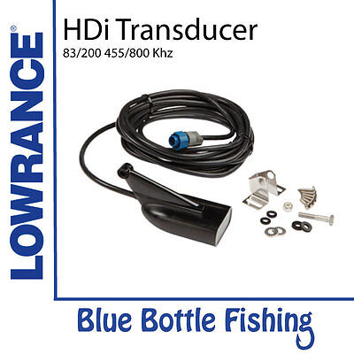 Lowrance HDI Skimmer transducer 83/200/455/800 with built in temp.