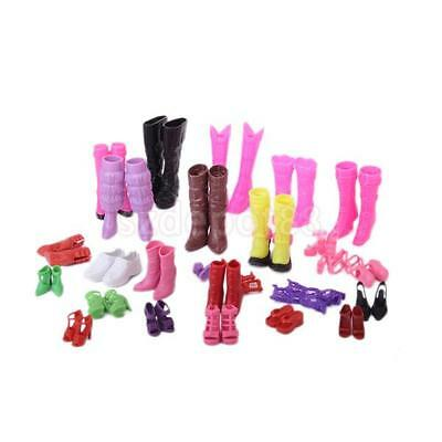 Lot 25 Pairs High heel Shoes sandals boots For Barbie Doll Clothes Accessory