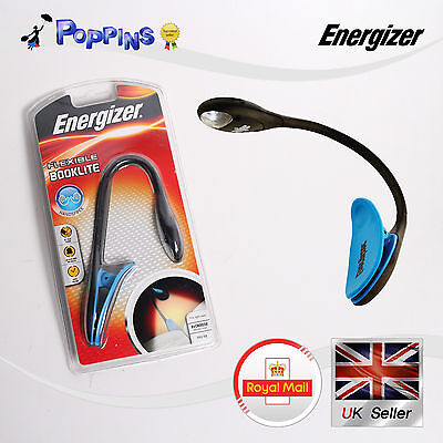 Energizer BKFN2BU LED Booklite Clip On Reading Light uses 2x CR2032 lithium coin