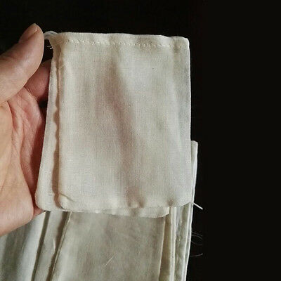 20/50/100 Pack 4x6inch Natural Cotton Muslin Drawstring Bags Spice Herb Tea Soap