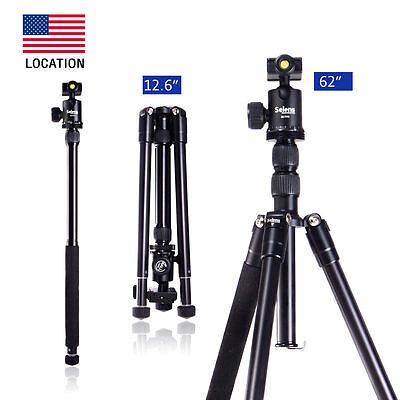 "Selens Professional 62"" T-170 Tripod & Monopod with Ball Head for DSLR Camera"