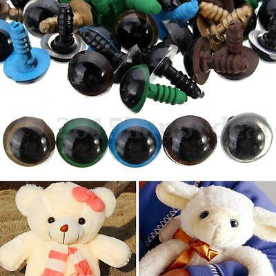 100pcs 12mm Color Plastic Safety Eyes For Teddy Bear Doll Animal Puppet Craft