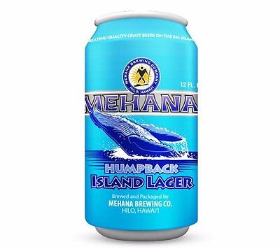NEW RELEASE ~ EMPTY MEHANA HUMPBACK ISLAND LAGER Craft Beer 12oz Can Hilo Hawaii